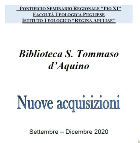 Acquisizioni settembre-dicembre 2020